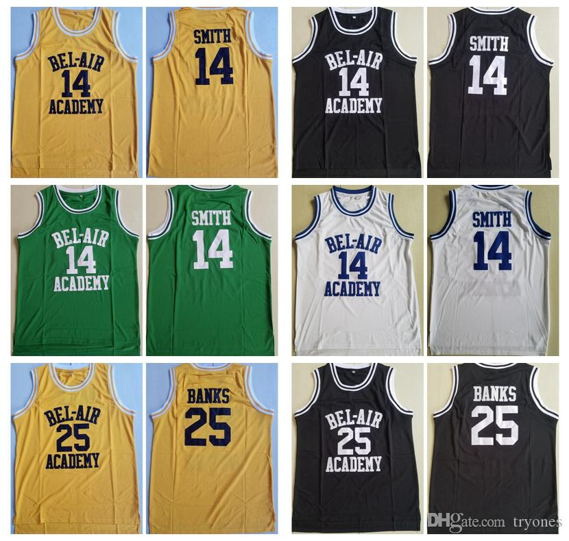 c3cf892c069 2019 Mens The Fresh Prince Of Bel Air Moive 14 Will Smith Bel Air Academy  Basketball Jersey Cheap 25 Carlton Banks Stitched Basketball Shirts From  Tryones, ...
