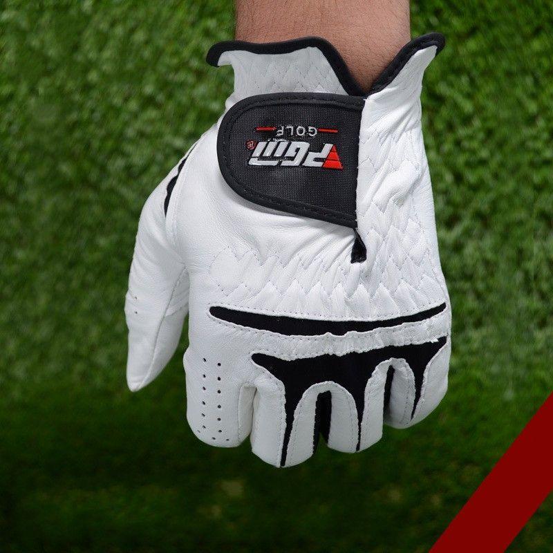 Genuine Leather Golf Gloves For Men Left Right Hand Sheepskin Glove Easy To Adjust Sports Accessory 28xs U U