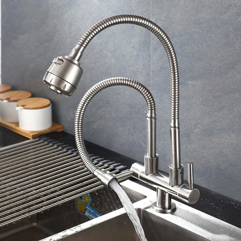 2019 304 Stainless Steel Kitchen Faucet Single Cold Water Tap