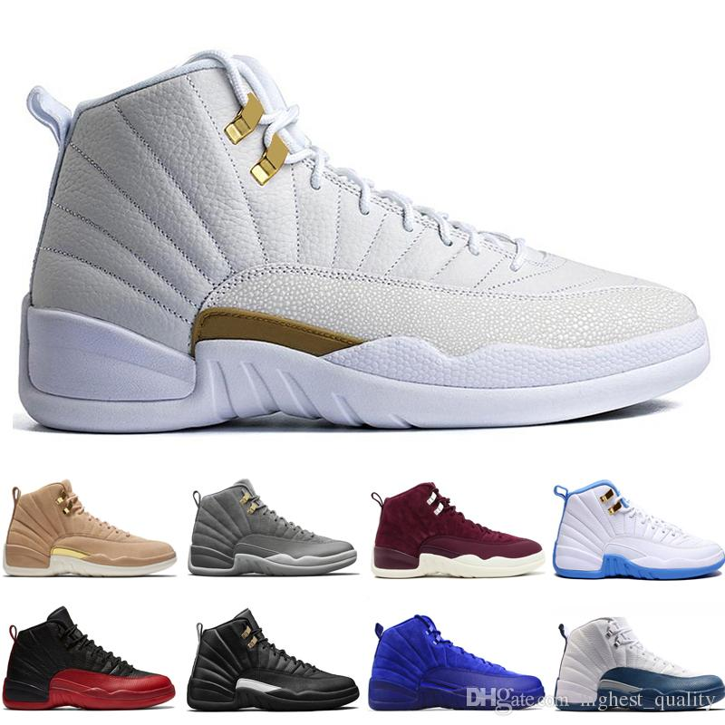 low priced 31fde 70546 12 12s men basketball shoes Wheat Dark Grey Bordeaux Flu Game The Master  Taxi Playoffs University Gamma French Blue Gym Red Sports sneakers