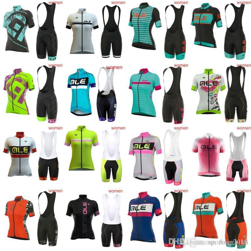 2018 Women Ale Cycling Jersey Team Sport Suit Bike Maillot Ropa Ciclismo  Cycling Jersey Bicycle Bib Shorts MTB Bicicleta Clothing Set 3286 Ale Women  Cycling ... 64b6e2eab