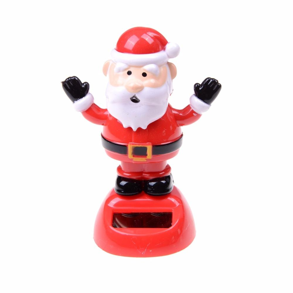2018 solar powered shaking toy christmas toy santa claus for children christmas car home decoration best gift no battery novelty solar powered toy car