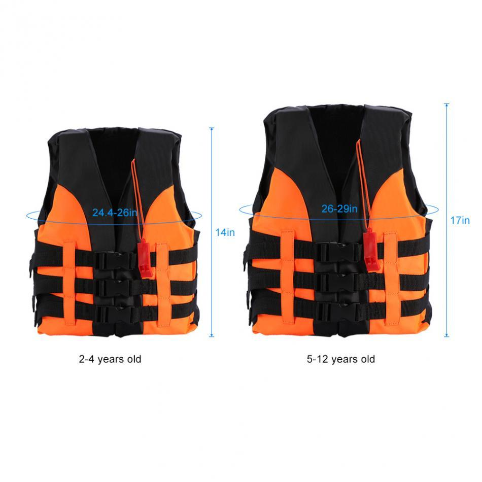 Child Kids Life Jacket life Vest 2-12 Years Old Boy Girl Outdoor Boating Swiming Life Safety Water Sports swimwear aid vest