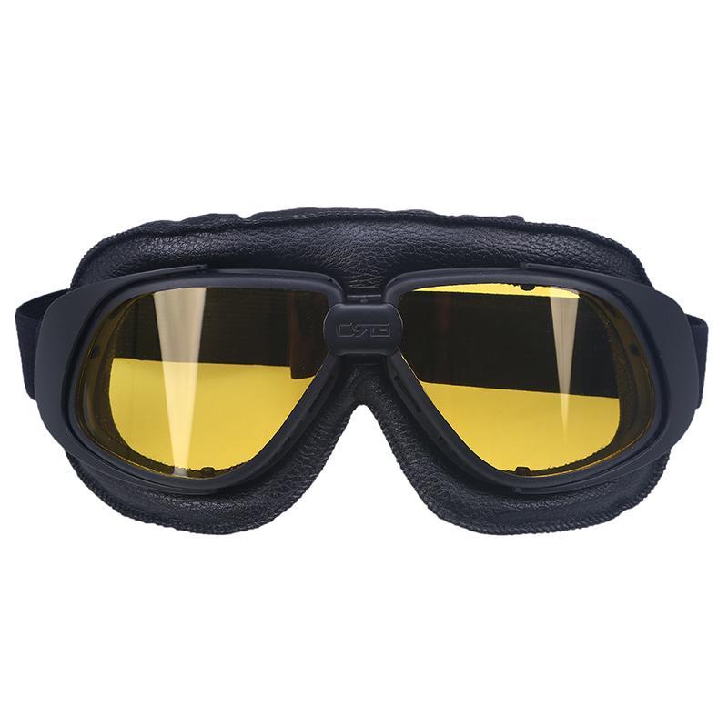 6c5558aab1 Vintage Leather For Harley Motorcycle Goggles Pilot Motorbike Motocross  Goggles Retro Jet Helmet Eyewear For Cafe Racer Glasses Prescription  Sunglasses For ...