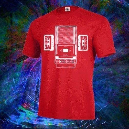 Hot New 2018 Summer Fashion New Retro Cassette Tape Recorder Mixtape Shirt , Mens & Fitted Womens , 80s Party Tee Shirt