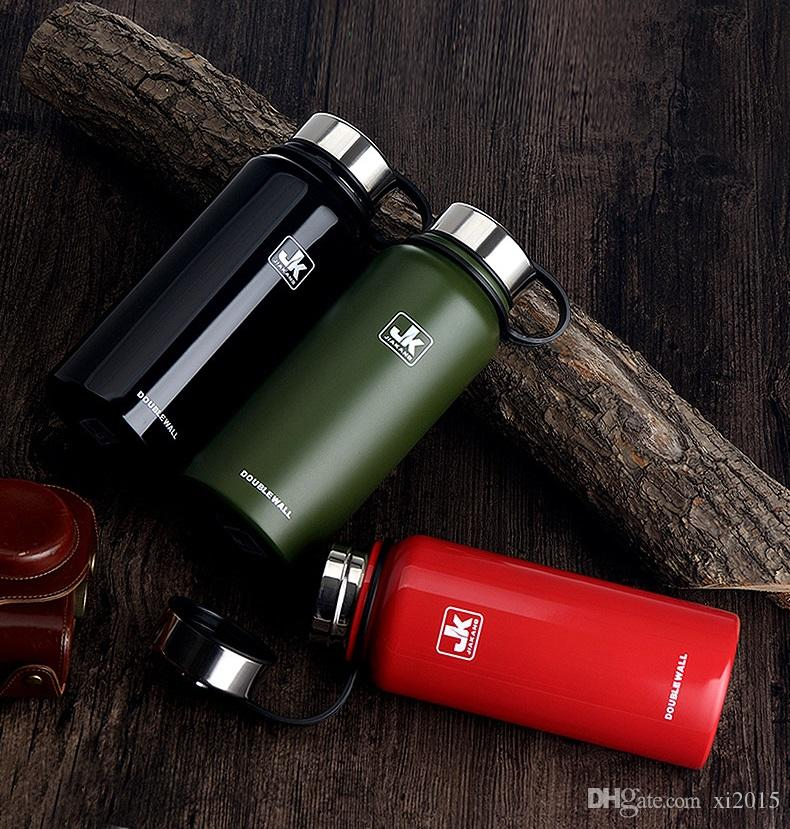 610 ml 20 oz de acero inoxidable taza de vacío al aire libre senderismo escalada gran capacidad deportes hervidor doble pared botellas de agua