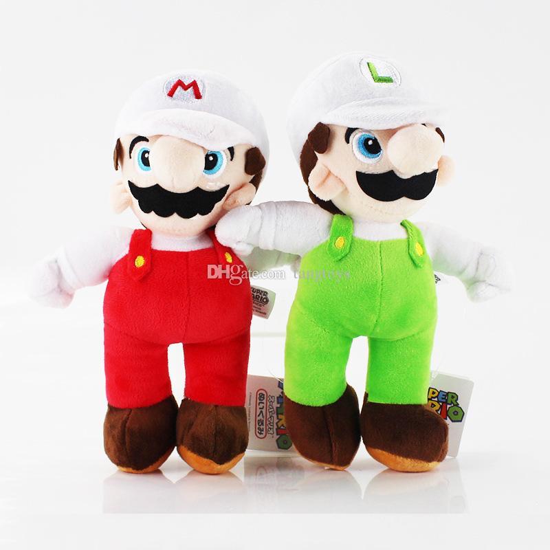 10inch juguetes de peluche Super Mario Bros suaves de dibujos animados de peluche Muñecas Animales juego de la película Firgures de acción para los regalos de Navidad de los niños