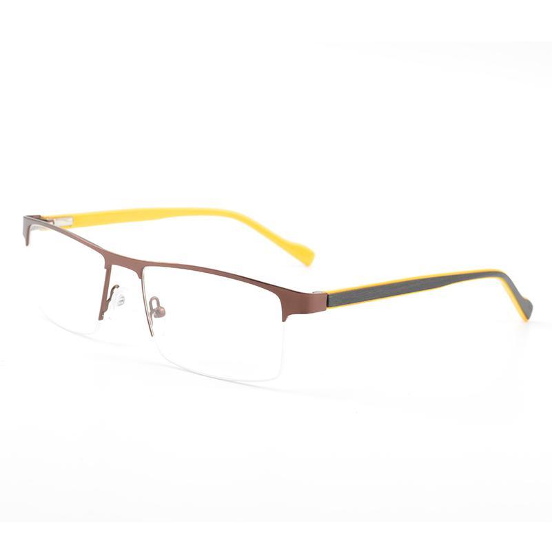 a73012f6be Men Metal Vintage Eyewear Frame Myopia Glasses Clear Lens Spectacle ...