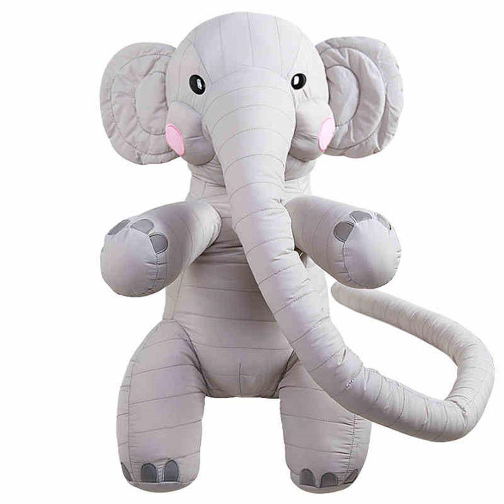 2019 Big 130cm Long Nose Elephant Plush Toy Cute Soft Stuffed