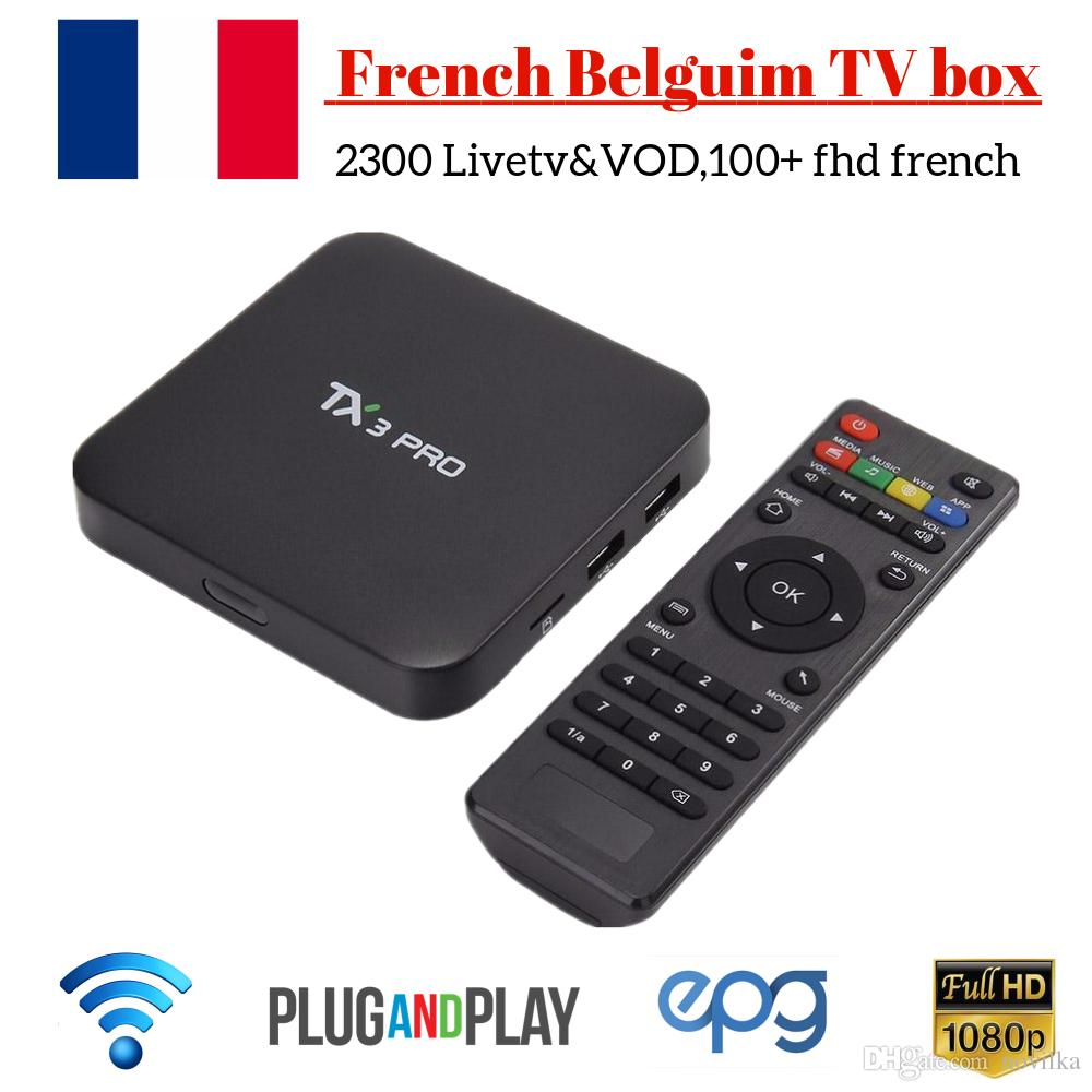 TX3PRO Android 7 1 TV Box 1 Year IPROTV Code Arabic French IPTV Box H 265  4K TX3PRO IPTV Box Europe Turkish Portugal