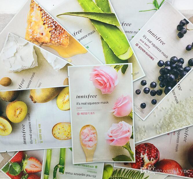 Best seller 14 kinds Innisfree Squeeze Mask Sheet Moisturising Face Skin Treatment Oil-control Facial Mask Peels Skin Care