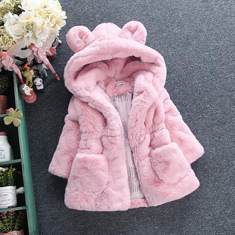 Children Outwear Toddlers Girls Winter Coat Junoesque Baby Faux Fur Fleece Lined Coat Kids Jackets Coats Fur Jackets Winter Warm Kids Coats