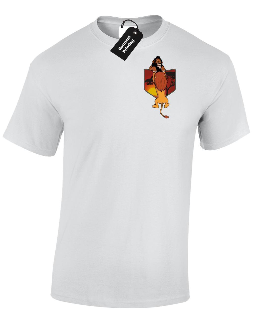 e3920389d1d4 MUFASA SCAR POCKET MENS T SHIRT FUNNY LION DESIGN KING RETRO CUTE TOP  COLOUR Online Buy T Shirts Tna Shirts From Linnan09, $14.67| DHgate.Com