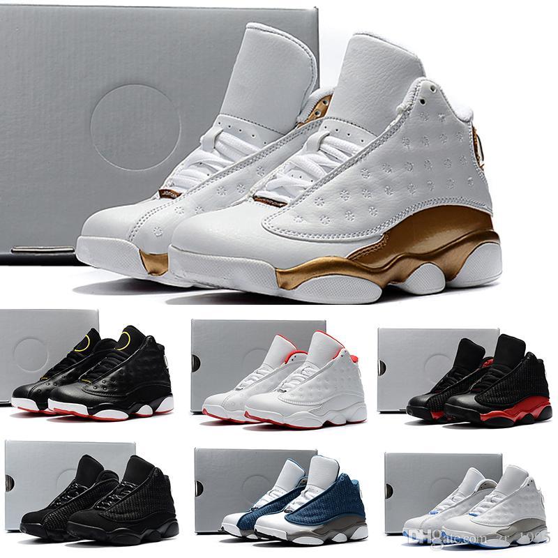 meet 76618 70792 Großhandel Nike Air Jordan 13 Retro Kids 13s Basketballschuhe Ein Penny  Hardaway Kinder Tennis Schaum Auberginen Basketball Sportschuhe Outdoor  Sportlich ...