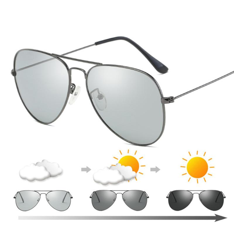 9a3f32277c Compre Gafas De Sol Polarizadas Fotocromáticas De Camaleón De Yok's Gafas  De Visión Nocturna Hombres Marca Gafas De Conducción Aviaton Gafas De Sol  ...