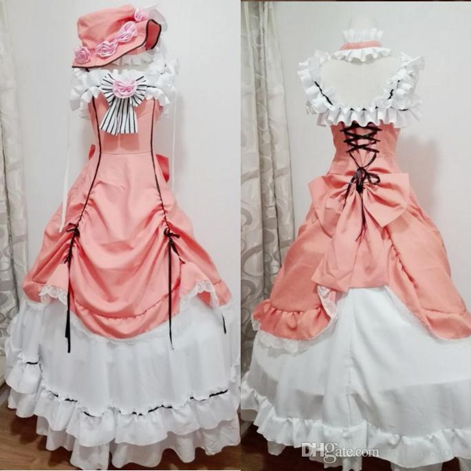 f7a552a0b Ciel Phantomhive Cosplay Costume Anime Manga Kuroshitsuji Fancy Lolita Dress  Women Black Butler Ciel Phantomhive Maid Costume Cosplay Costume Halloween  ...