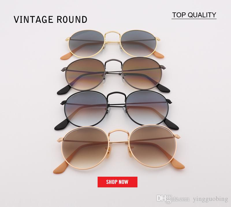 c5f42d1332a Top Sellin Brand Design Round Sunglasses 2018 Fashion Shades ...