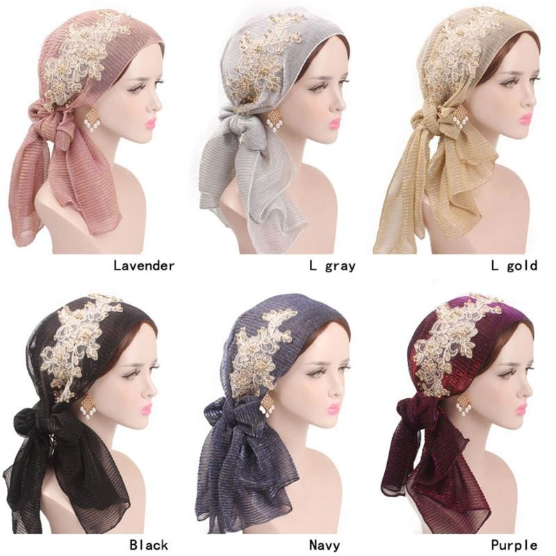 33dab42469c Hot New Design Women Muslim Floral Scarf Hat Girls Lady ...