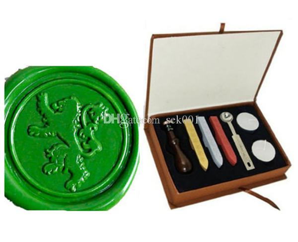 Vintage Lion Wax Seal Stamp Gift Box Kit Wedding Invitations Canada 2018 From Sek001 CAD 2116