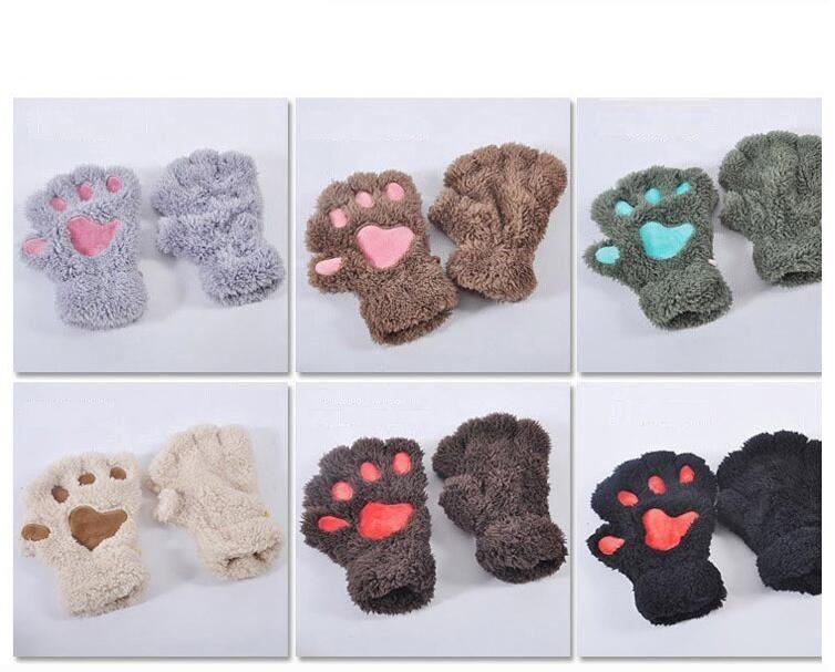 Frauen Mädchen Kinder Winter flauschige Plüsch Handschuhe Fäustlinge Halloween Weihnachten Bühne führen Prop Cosplay Katze Bär Paw Claw Handschuh Party Gefälligkeiten
