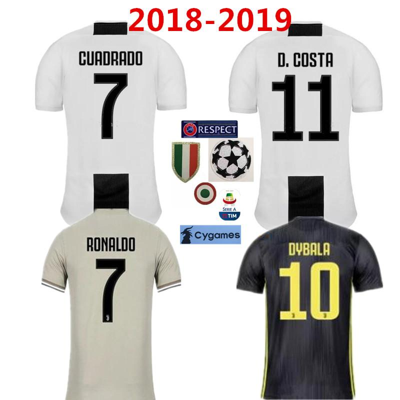 sports shoes 0410b 6b5d5 2019 Juventus #7 RONALDO Soccer Jersey 18 19 home 10 DYBALA Soccer Shirt 9  HIGUAIN MANDZUKIC CUADRADO 6 KHEDIRA DANI KID Football jerseys