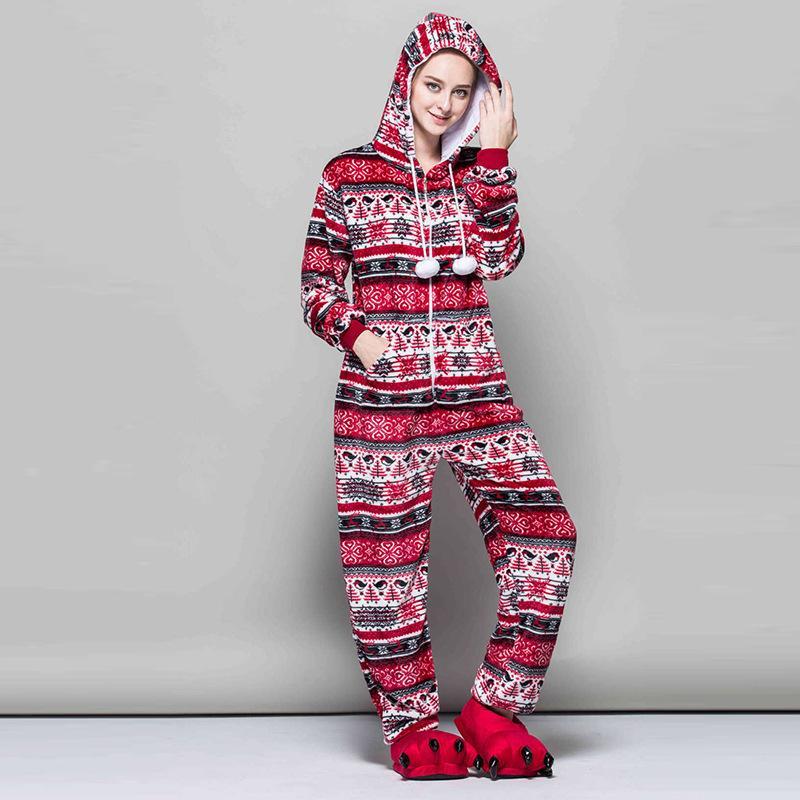 85b898d872 Compre Todo En Uno Mujeres Pijamas De Copo De Nieve Kigurumi Flannel Pijama  De Invierno De Dibujos Animados Pájaro Rojo Sexy Con Capucha Pijama Ropa De  ...