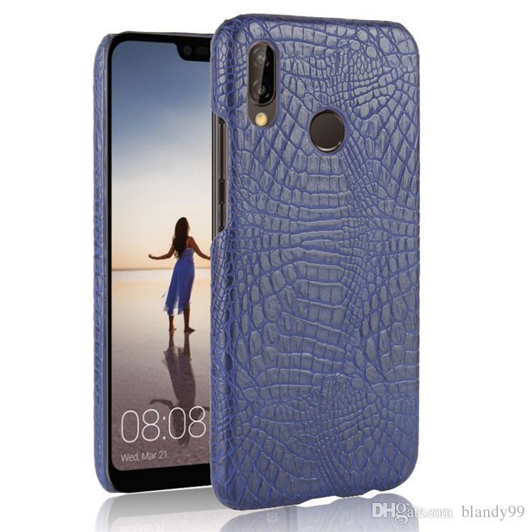para Huawei P20 lite nova 3E 2S Luxury Cocodrilo Snake Funda de piel para Huawei P20 pro enjoy 7S P smart