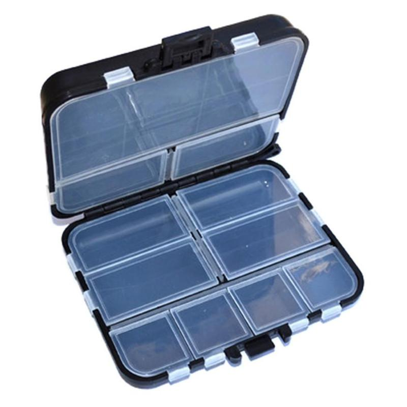 11 Grids Fishing Gear Box Outdoor Fish Bait Hook Storage Small case Hooks Organizer Clear Lattice Carrier Cases Black cover sale
