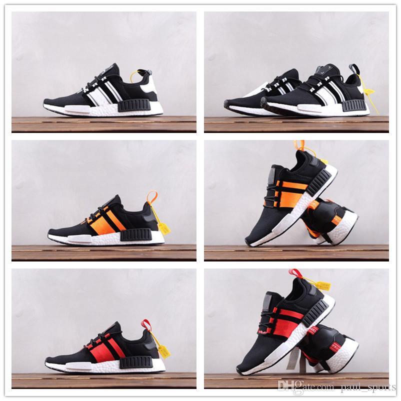 new concept 9b666 0353e Cheap Sale Luxury Designer Shoes NMD R1 x Sup Basf Running for Good quality  Black White Red Men Women Fashion Sneakers Size 36-45