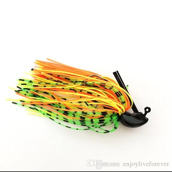Jig Heads Fishing Lure Lifelike Buzzbait Artificial Plastic Soft Bait Bass Spinner Bait Lures Fishing Tackle with Crank Hook