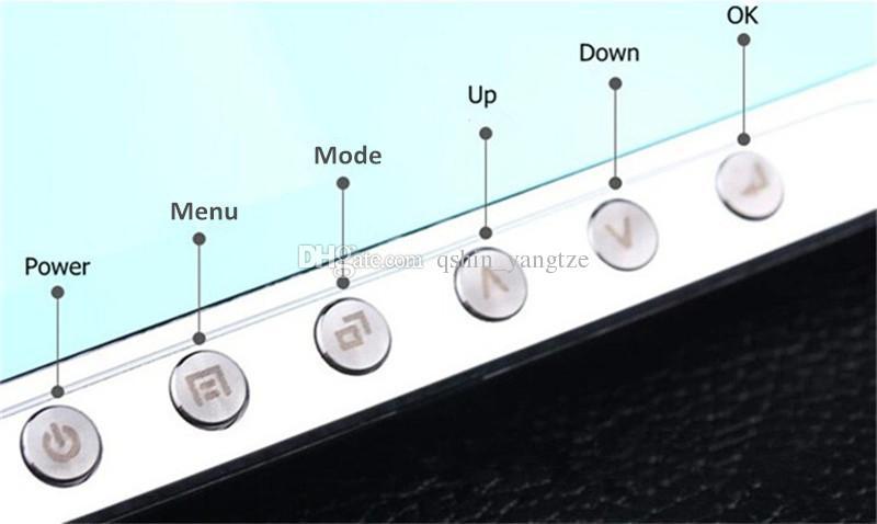 2 canales 1080P Full HD monitor de aparcamiento espejo grabador digital de dashcam 170 grados de visión nocturna G-sensor 4.3