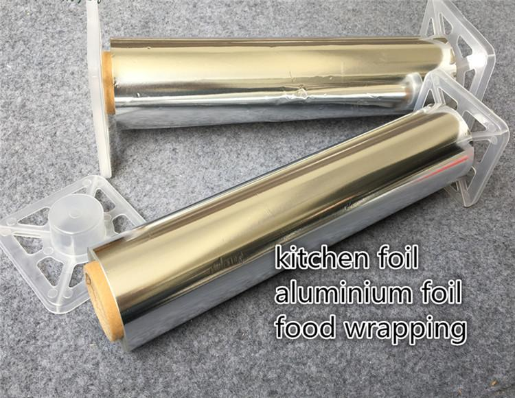 30cm*100m Aluminium Foil paper with mental cutter food wrapping paper food service hot stamping foil for barbecue