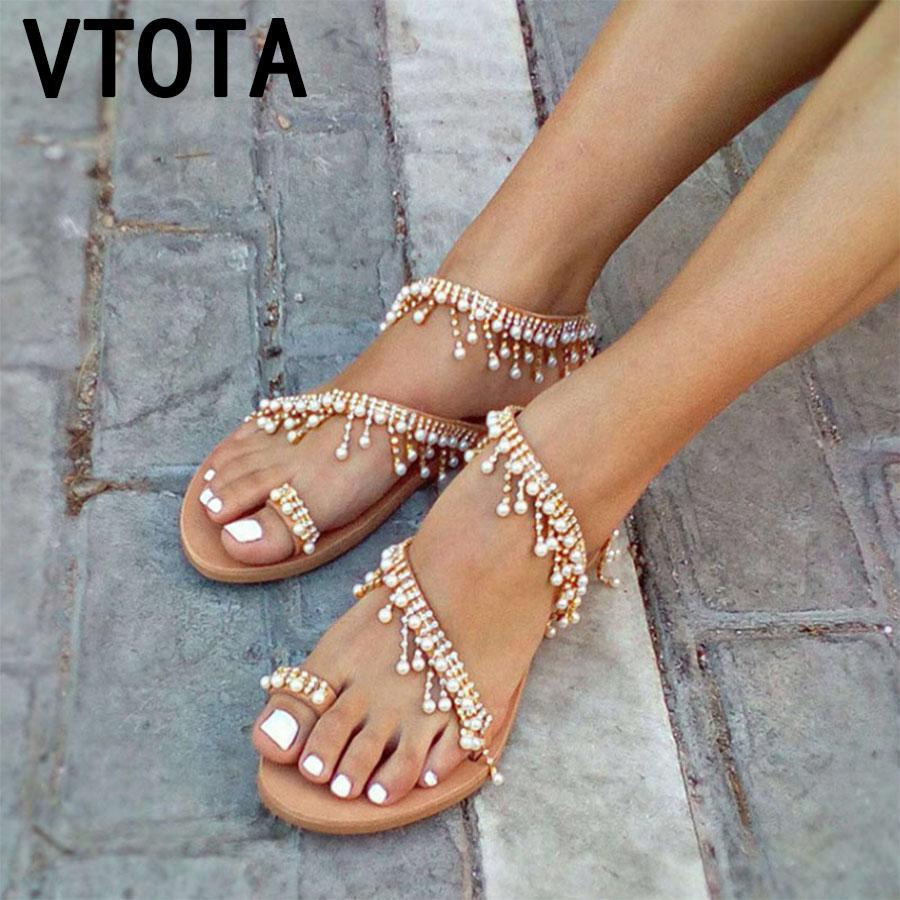 27b3f5495 VTOTA Luxury Shoes Women Designers Flat Sandals Ladies Sandals Zapatos De  Mujer Women Flat Woman 2018 Summer K93 Cheap Shoes For Women Buy Shoes  Online From ...