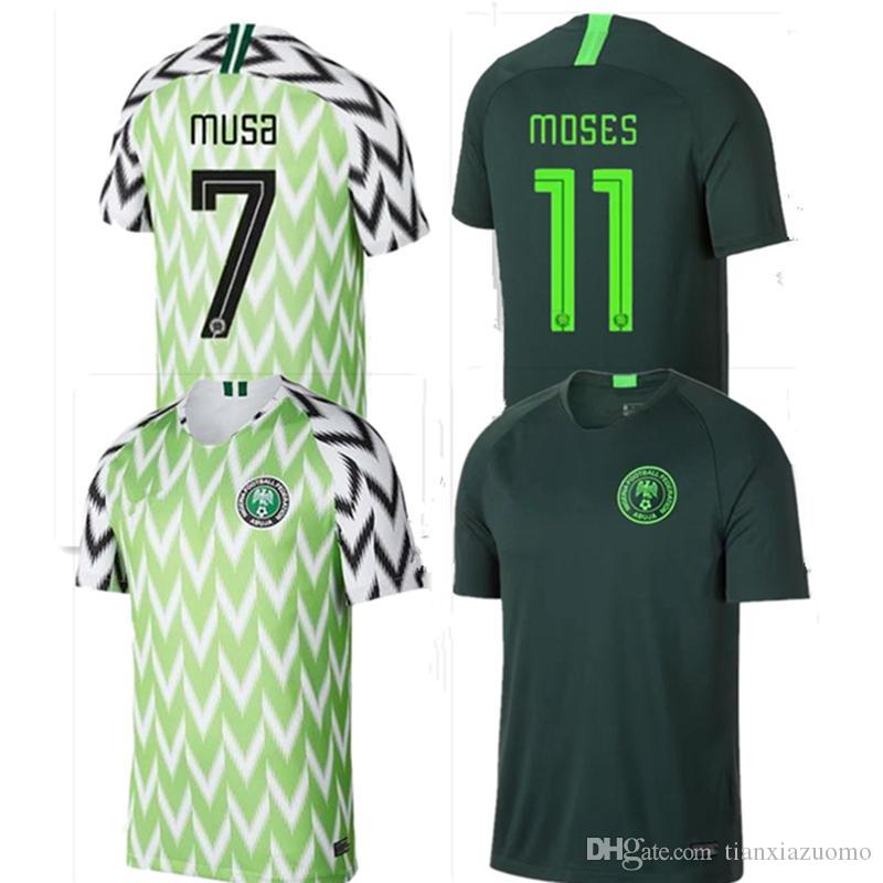 c4868a4234b High Thai quality World Cup Jersey Men 2018 Nigeria Home Away Soccer Jerseys  IWOBI IHEANACHO Mikel Moses OBI Football Shirt Custom