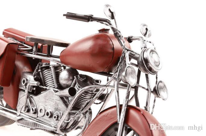 Mettle New Arrival Length 34 CM Retro Iron Bar KTV Decoration Metal Craft Handmade metal motorcycle model