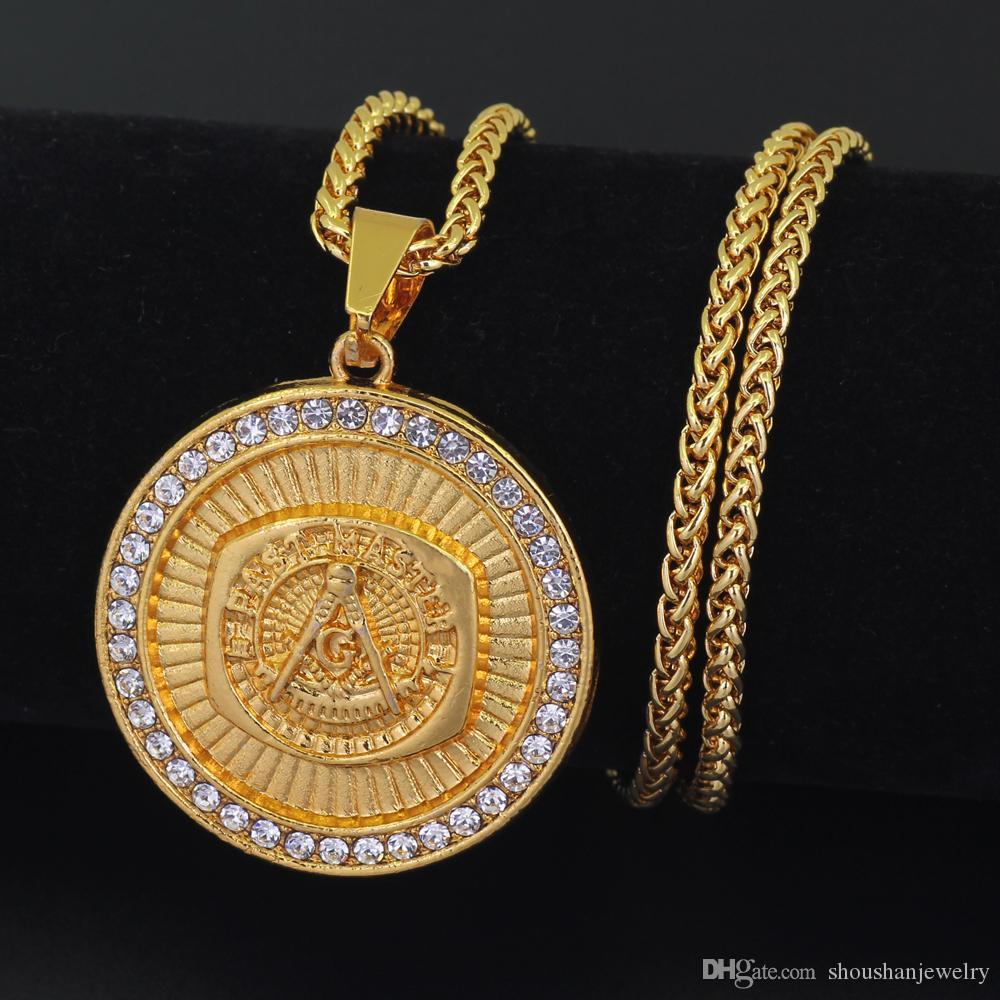 Wholesale Hip Hop Mens Jewelry Round Pendants Necklace Free Mason Masonic Necklace N820 Pendants For Necklaces Circle Pendant Necklace From Shoushanjewelry 6 83 Dhgate Com