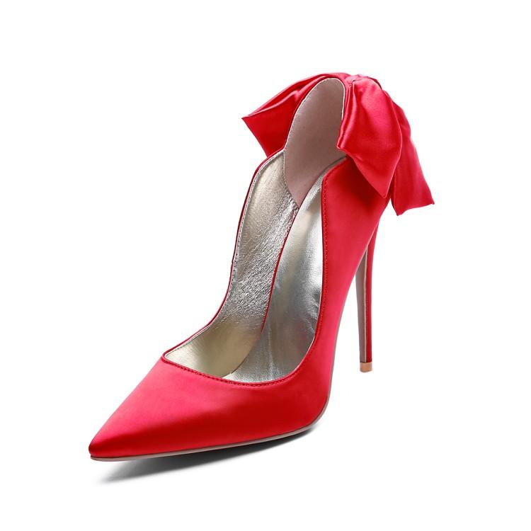 7cbeabaf9f Hot Selling Pointed Toe High Heel Pumps Women Butterfly Knot Thin Heels  Shoes Sexy 12cm Party Shoes Autumn Red Wedding Shoes Purple Shoes Cute Shoes  From ...