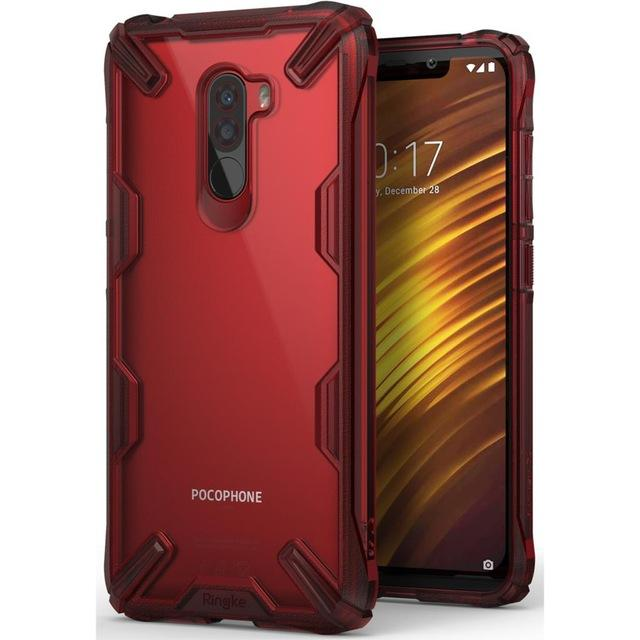 super cute cf802 ed357 Rearth Ringke Xiaomi Pocophone F1 Case Case Ringke Fusion X Transparent  Back Cover Durable Hybrid High Quality Hand Phone Case