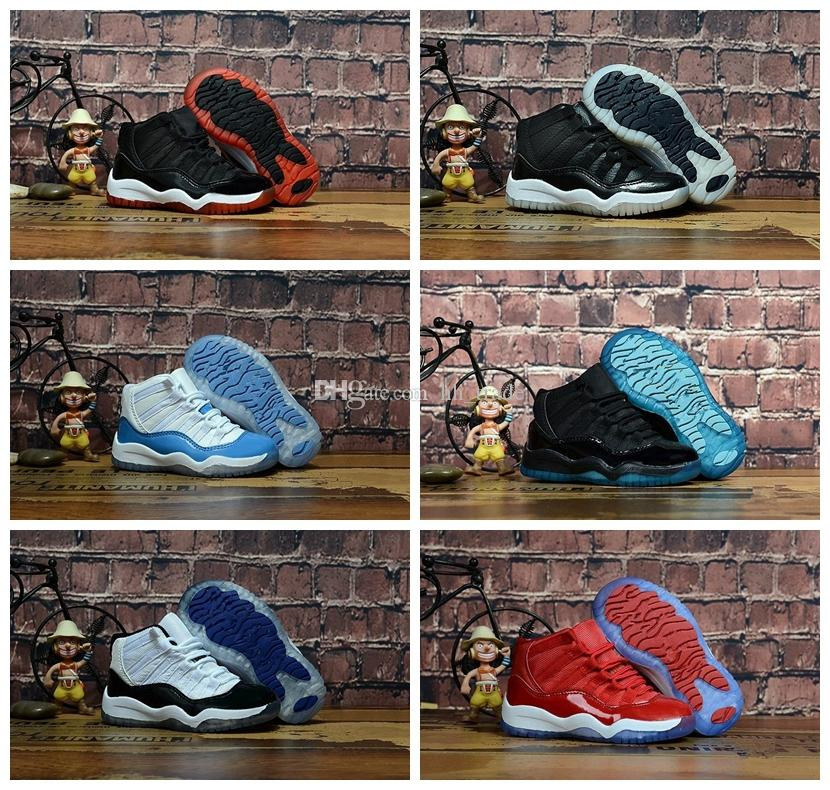 7d13e101f549 Bred XI 11S Kids Basketball Shoes Gym Red Infant Children Toddler ...