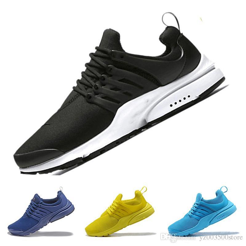 brand new 9fd24 876c8 Acheter Nike Air Presto 2018 Nouveau PRESTO BR QS Breathe Jaune Noir Blanc  Hommes Prestos Chaussures Sneakers Femmes, Chaussures De Course Pour Hommes  ...
