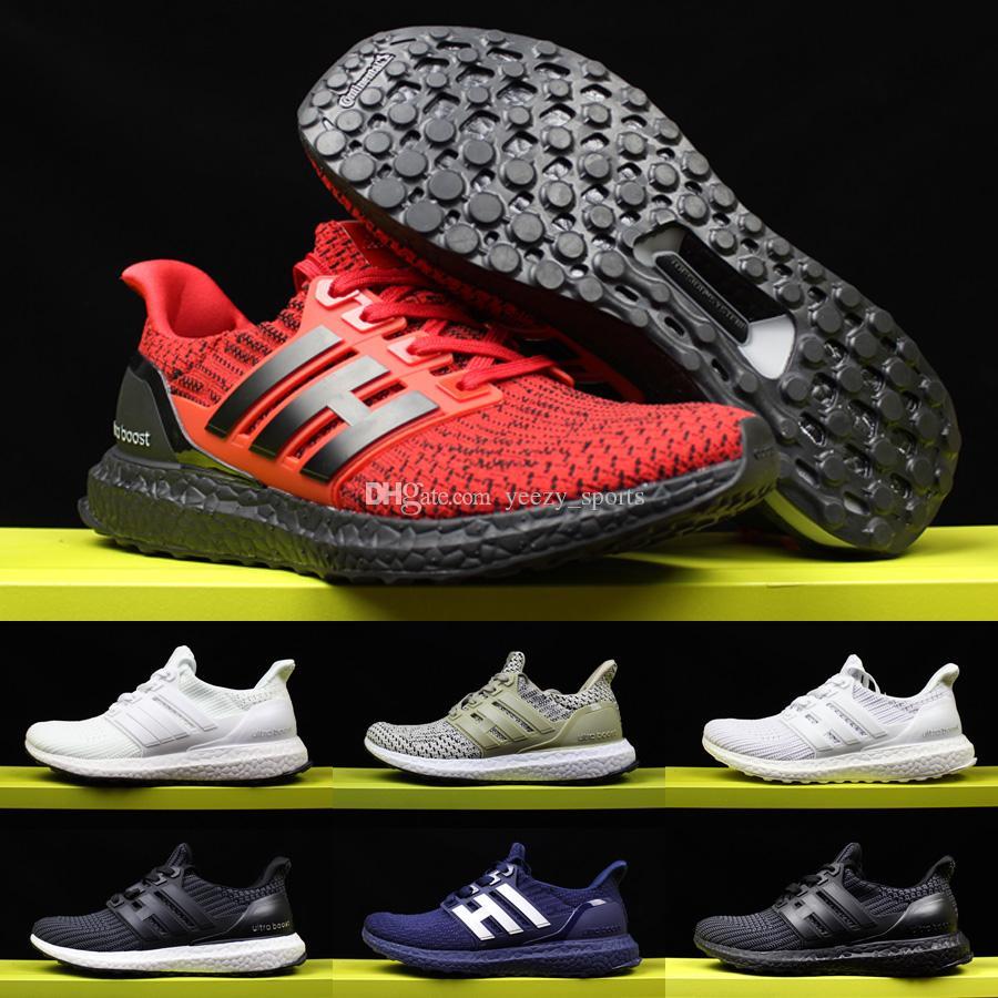 online store 34fe8 14a0b Compre 2017 Ultra Boost 4.0 Ultraboost Zapatos Para Correr Para Mujer  Triple Triple Negro Y Blanco Primeknit Oreo Cny Zapatillas Deportivas Gris  Azul 36 45 ...