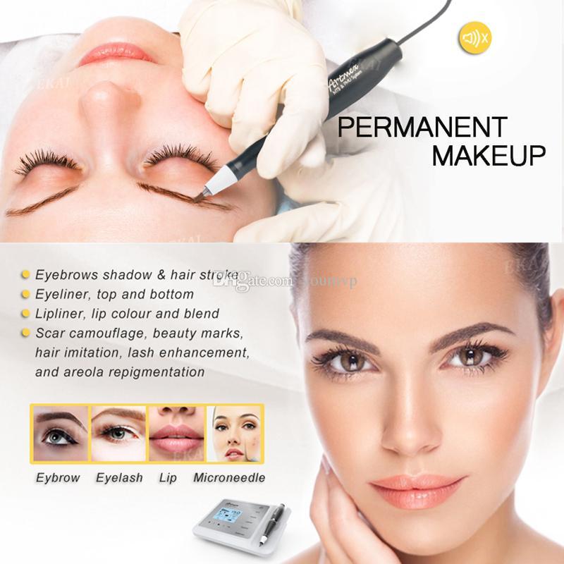 Makeup Artmex V9 Permanente Digital sobrancelha Lip Eyeline MTS / PMU Digital Professional Permanente Tattoo Pen Máquina Rotary