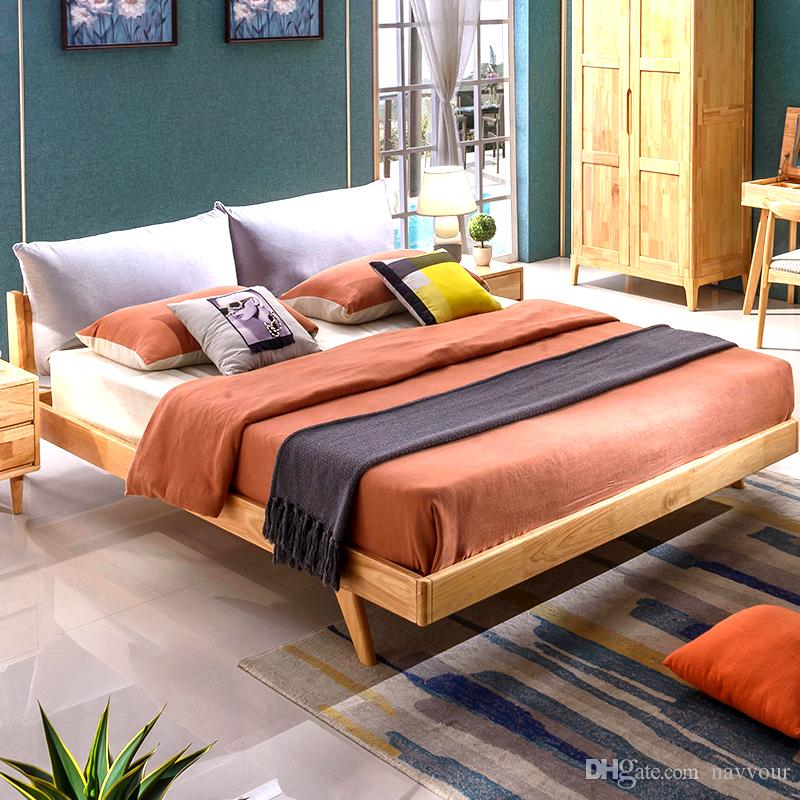 Großhandel Gummi Holz Bett 1,8 M Doppelbett Schlafzimmer Wirtschaft ...