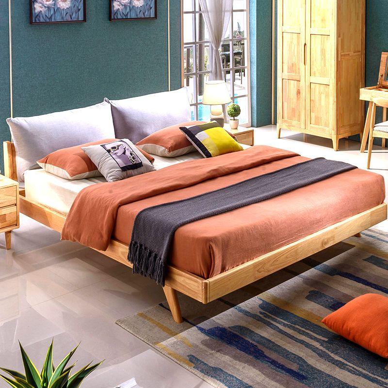 Gummiholzbett 1,8 M Doppelbett, Schlafzimmer, Wirtschaft, Moderne,  Minimalistische Möbel Mit Tasche, Hochzeitsbett