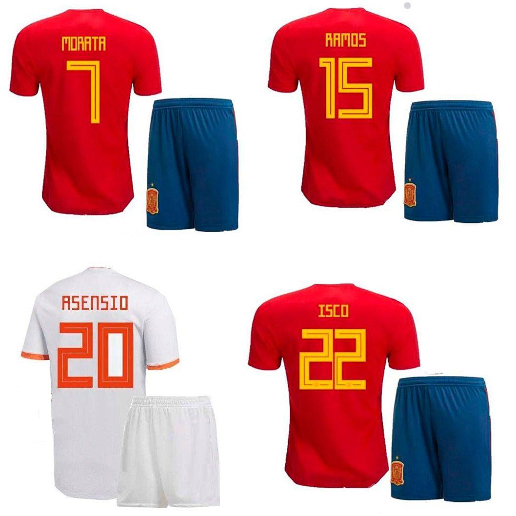 21af16bf007 2019 2018 Spain Soccer Jersey ESPANA Home Away Football Jerseys Shorts 18  19 ASENSIO MORATA RAMOS INIESTA Football Kit Men Camisa Maillot De Foot  From ...