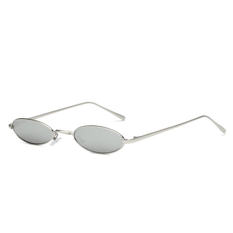 6506aa2bf Compre Óculos De Armação Retro Cor Óculos De Sol Europa E América Pequeno  Quadro Unisex Street Pat Coringa Óculos De Armação De Metal Dhl De Youyi2,  ...
