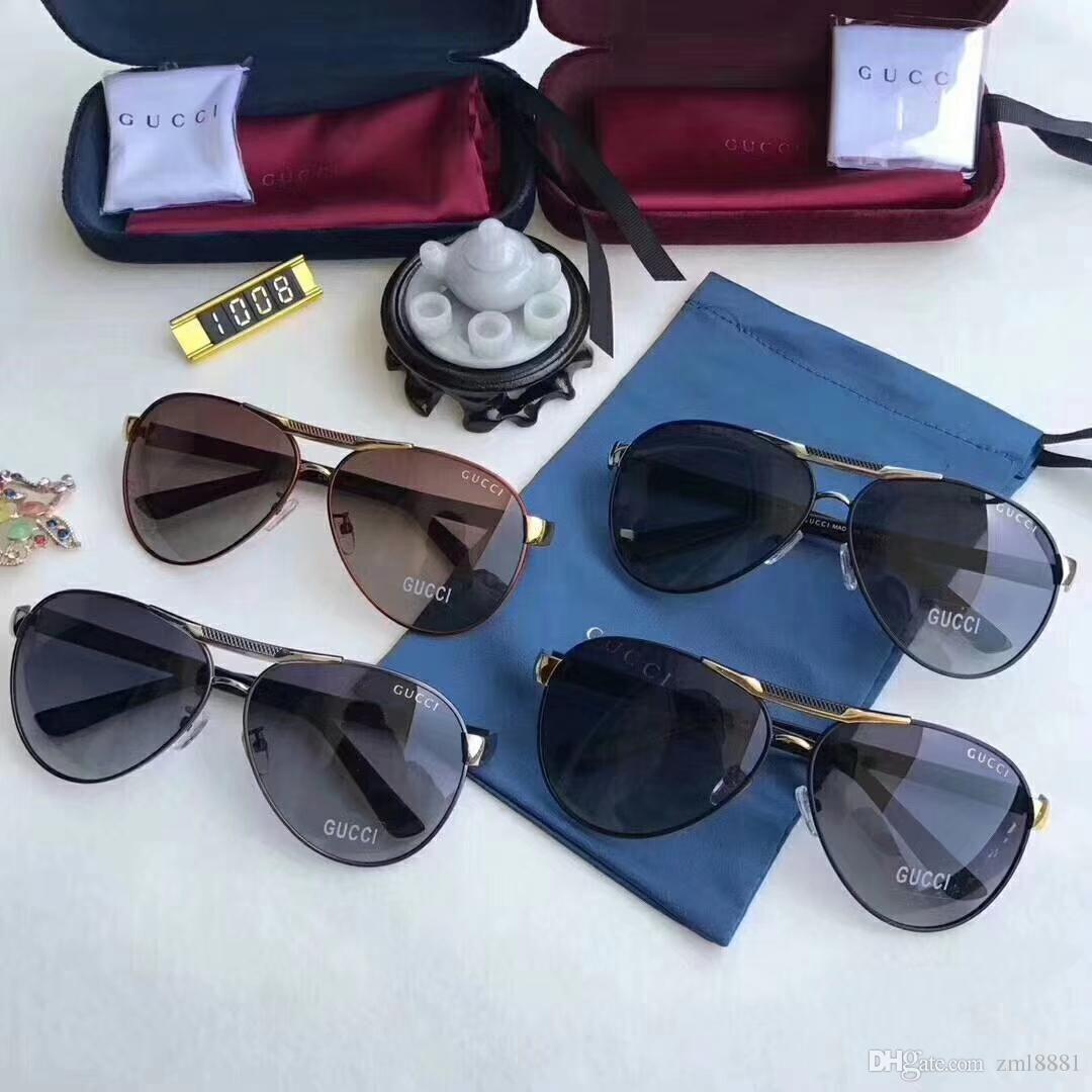 4b37d4554e ... Luxury Polarized Light Metal Male Big Box Sunglass