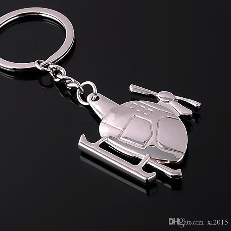 DHL livraison gratuite créatif hélicoptère porte-clés en métal porte-clés en alliage de zinc unisexe avions clé anneau wen5863
