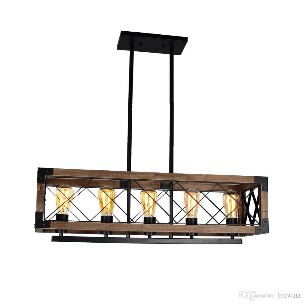 Großhandel Rustikales Küchen Insel Licht, 5 Licht Quadratisches ...