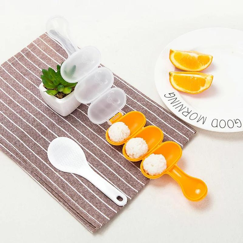 Rice Ball Molds Ball Shape Sushi Maker Mould Rice Ball with Spoon Kitchen Tools